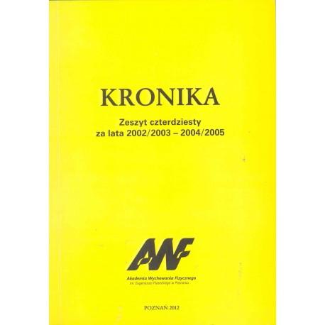 Kronika AWF zeszyt 40