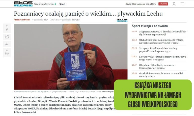 Historia KKS Lech- sekcja pływacka.